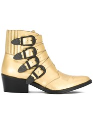 Toga Cowboy Ankle Boots Metallic