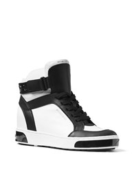Michael Michael Kors Pia High Top Sneakers Black White