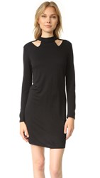 Lanston Cutout Turtleneck Mini Dress Black