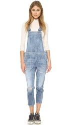 Citizens Of Humanity Audrey Slim Cropped Overalls Sun Bleach