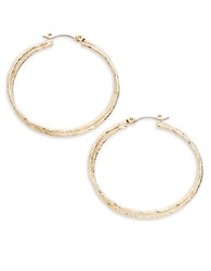 Abs By Allen Schwartz Textured Layered Hoop Earrings Gold