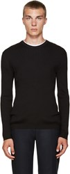 Tiger Of Sweden Black Ribbed Crewneck