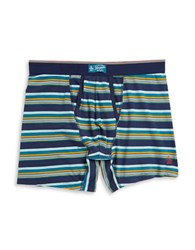Original Penguin Cotton Blend Striped Boxers Blue