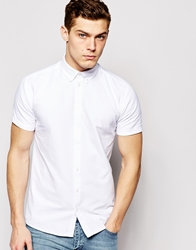 Minimum Oxford Shirt Short Sleeves White