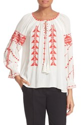 Women's Parker 'Felicia' Embroidered Peasant Blouse