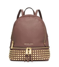 Michael Kors Rhea Small Studded Leather Backpack Dusty Rose
