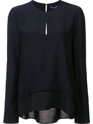 Narciso Rodriguez Slit Detail Longsleeved Blouse Black