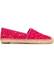 Tory Burch Flower Effect Espadrilles Pink And Purple