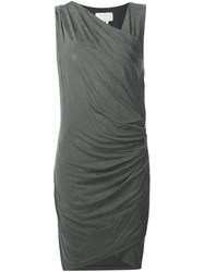 Nicole Miller Gathered Dress Grey