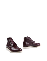 Dsquared2 Ankle Boots Maroon