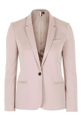 Topshop Fitted Suit Jacket Mink