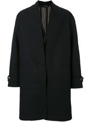 Isabel Benenato Oversized Coat Black