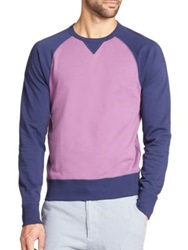 Saks Fifth Avenue Colorblock Sweatshirt Lavender