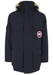 Canada Goose Expedition Navy Fur Trimmed Twill Parka
