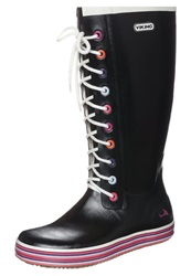 Viking Retro Sprinkle Wellies Black