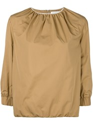 J.W.Anderson Ruched Neck Blouse Nude And Neutrals