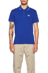 Kenzo K Fit Cotton Polo In Blue