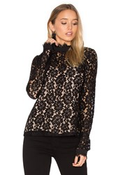 Wayf Berklin Lace Long Sleeve Top Black