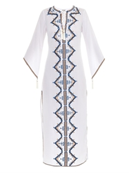 Talitha Embroidered Cotton Kaftan Dress