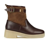 F Troupe Women's Leather Sheepskin Lined Hunting Boots Chestnut Tan
