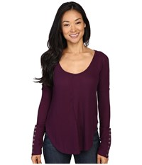 Lucky Brand Thermal Tee Winter Bloom Women's T Shirt Multi