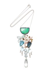 Sharon Khazzam Montijo Necklace Silver Blue Green