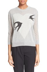 Women's Mcq By Alexander Mcqueen Swallow And Heart Print Sweater