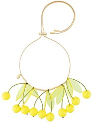 P.A.R.O.S.H. 'Cherry' Necklace Yellow And Orange