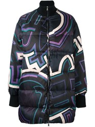 Emilio Pucci Zipped Padded Coat Blue