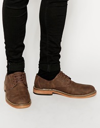 New Look Faux Suede Derby Shoe Brown
