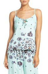 Minkpink Women's 'Clear Night Sky' Print Camisole Blue Multi