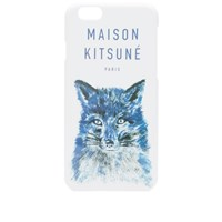 Maison Kitsune Fox Brush Iphone Case White