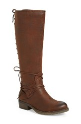 Very Volatile Women's 'Miraculous' Knee High Zip Boot Brown Faux Leather