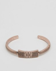 Classics 77 Burnished Aztec Bangle Bracelet In Copper Copper