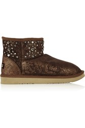 Mou Cowboy Studded Shearling Boots