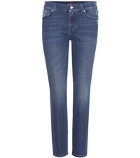 7 For All Mankind Roxanne Crop Jeans Blue