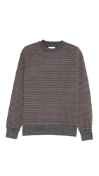 Billy Reid Martin Stripe Crew Neck Sweatshirt