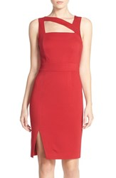 Women's Ali And Jay Cutout Ponte Sheath Dress Red