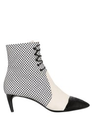 Bally 55Mm Macumba Mesh And Leather Ankle Boots
