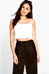 Molly Scallop Edge Strappy Crop Cami