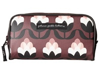 Petunia Pickle Bottom Glazed Powder Room Case Tuscan Twilight Cosmetic Case Brown