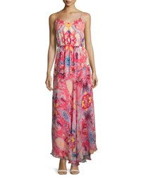 Haute Hippie The Love Her Madly Silk Paisley Maxi Dress Pink