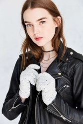 Urban Outfitters Plush Speckled Glove Ivory