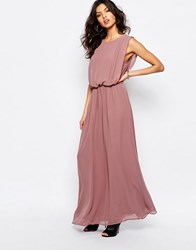 Y.A.S Linea Maxi Dress Rose Taupe