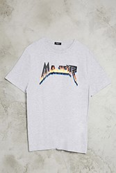 Forever 21 Major Graphic Tee Heather Grey Blue