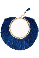 Rosantica Atena Fringed Gold Tone Necklace Gold Red