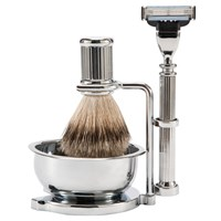 John Lewis Chrome Shaving Set With Bowl