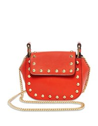 Brian Atwood Ricki Leather Crossbody Bag Coral