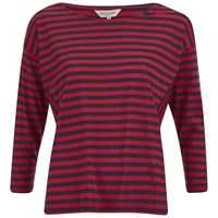 Great Plains Women's Pimhill Stripe Long Sleeve Top Navy Red