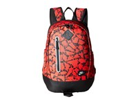 Nike Young Athletes Cheyenne Print Backpack University Red Black Metallic Silver Backpack Bags